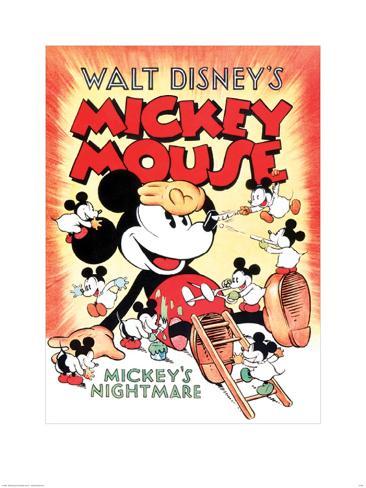 Mickey Mouse - Mickey's Nightmare Konstprint