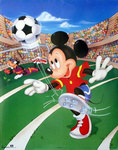 Mickey Mouse Soccer Poster