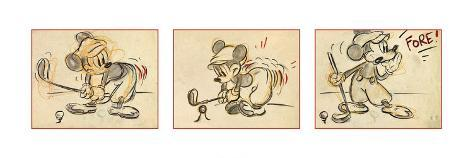 Mickey's Tee Off Art Print