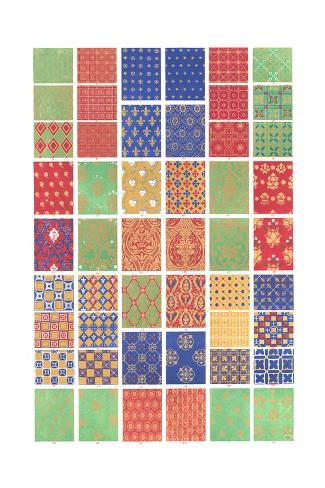 Mid Evil Graphic-Style Pattern Art Print