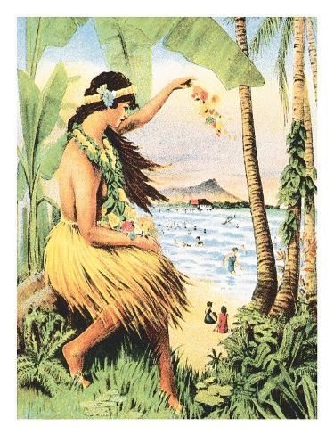 Mid Pacific Carnival 1915, Honolulu, Hawaii, USA Art Print