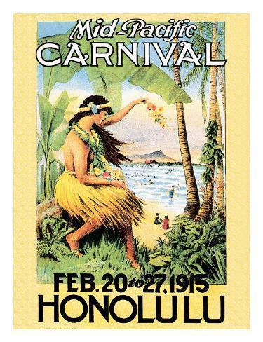 Mid Pacific Carnival, Honolulu, Hawaii, 1915 Giclee Print