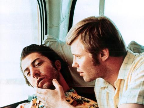 Midnight Cowboy, Dustin Hoffman, Jon Voight, 1969 Stretched Canvas Print