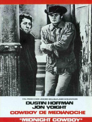 Midnight Cowboy, Spanish Movie Poster, 1969 Art Print