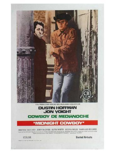 Midnight Cowboy, Spanish Movie Poster, 1969 Art Print