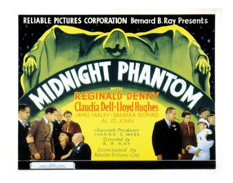Midnight Phantom - 1935 Giclee Print