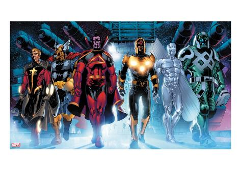 The Thanos Imperative No.3: Quasar, Beta-Ray Bill, Gladiator, Nova, SilverSurfer, Ronan the Accuser Art Print