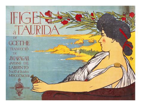 Ifigenia a Taurida De Goethe Stretched Canvas Print