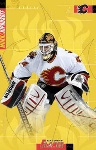 Miikka Kiprusoff Calgary Flames goalie Hockey Poster Poster
