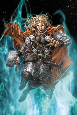 Astonishing Thor No.3: Thor Running with Mjonir Poster