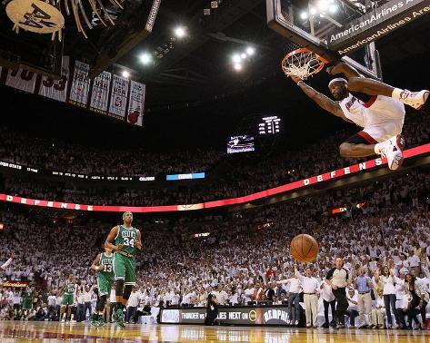 Boston Celtics v Miami Heat - Game Five, Miami, FL - MAY 11: LeBron James Photo