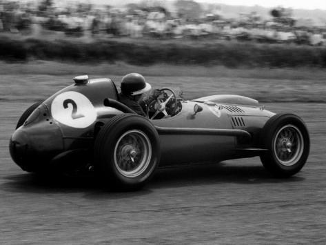 Mike Hawthorn in Ferrari, 1958 British Grand Prix 写真プリント