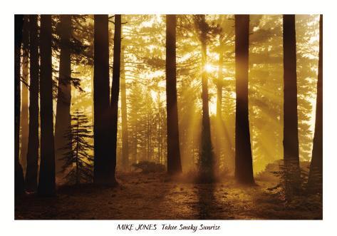 Tahoe Smoky Sunrise Art Print