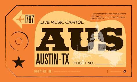 Austin-Bergstrom Serigraph