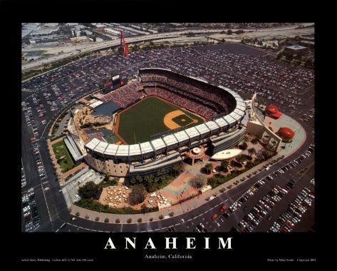 Anaheim: Edison Field, Angels Baseball, California Framed Art Print