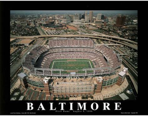 Baltimore Ravens First Game August 8, c.1998 Sports Framed Art Print
