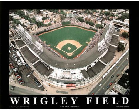 Chicago Cubs Wrigley Field Sports Art Print