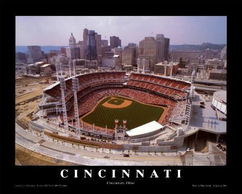 Cincinnati, Ohio - Baseball Framed Art Print