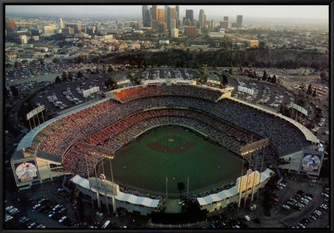Dodger stadium los angeles california framed canvas for Dodger stadium wall mural