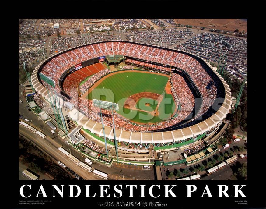 Estadio Candlestick Park: San Francisco, California Láminas por Mike ...