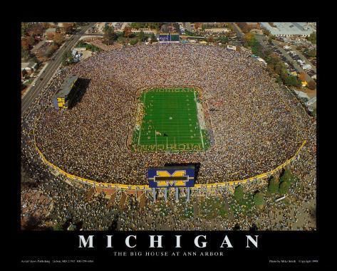 Michigan, The Big House at Anna Arbor Art Print