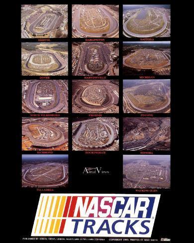 Nascar Tracks Art Print