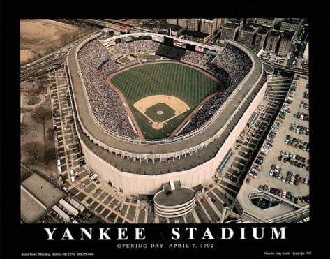 New York Yankees - Old Yankee Stadium, Opening Day, April 7, 1992 Art Print