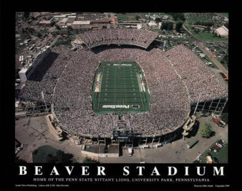 Penn state nittany lions beaver stadium ncaa sports prints for Beaver stadium wall mural