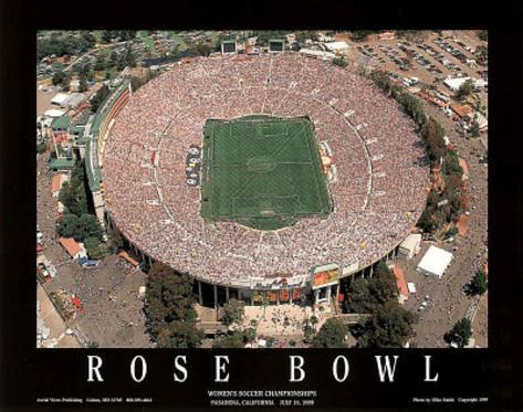 Rose Bowl Women's Soccer Championships July 10, c.1999 Sports Art Print