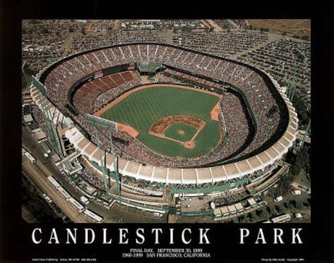 San Francisco Giants Candlestick Park Final Day Sept 30, c.1999 Sports Art Print