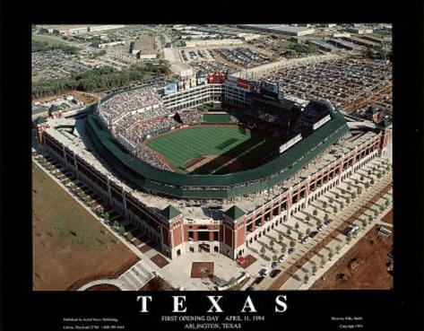 Texas Rangers - First Opening Day Game, April 11, 1994 Art Print