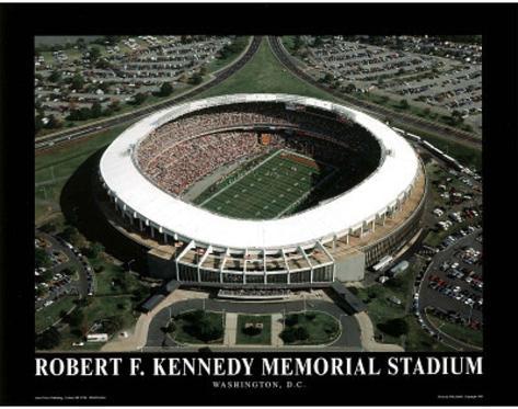 Washington Redskins RFK Memorial Stadium Sports Art Print
