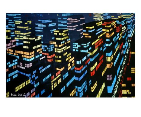 City Lights 5 Stretched Canvas Print