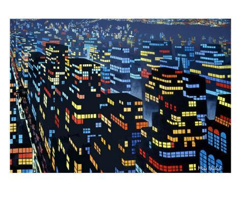 City Lights 6 Stretched Canvas Print