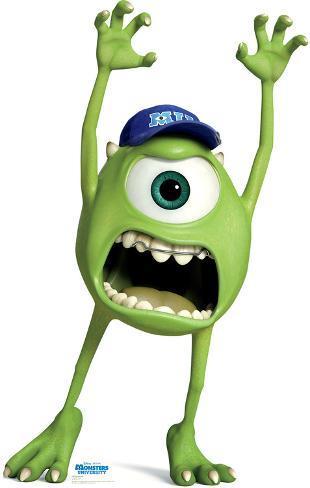 Mike Wazowski - Disney Pixar Monsters University Lifesize Standup Cardboard Cutouts