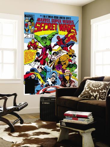Secret Wars No.1 Cover: Captain America Wall Mural