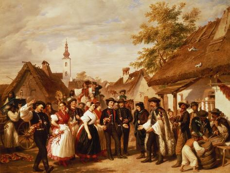 The Arrival of the Bride, 1856 Giclee Print