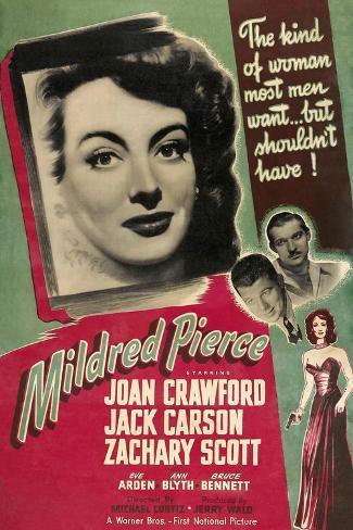 Mildred Pierce, Joan Crawford, Zachary Scott, Jack Carson, 1945 Art Print