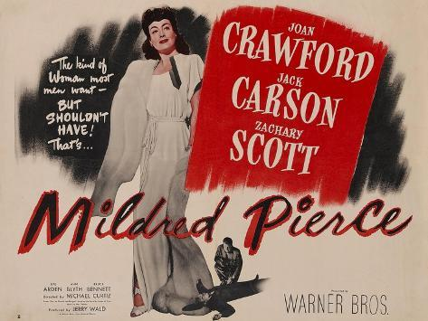 Mildred Pierce, UK Movie Poster, 1945 Impressão artística