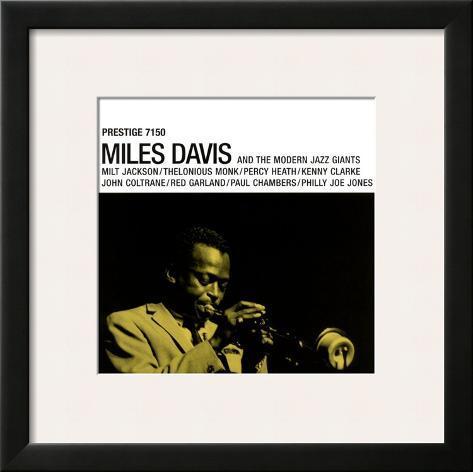 Miles Davis - Prestige 7150 Framed Art Print