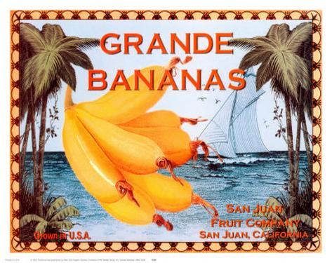 Grande Bananas Art Print