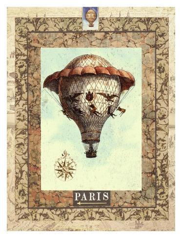 Vintage Hot Air Balloon II Art Print