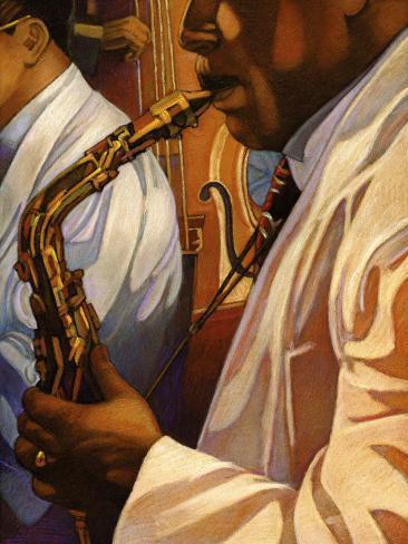 Senso Jazz Art Print