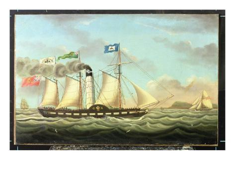 The Steam Packet 'saint Patrick' on the Liverpool to Dublin Run, 1827 Giclee Print
