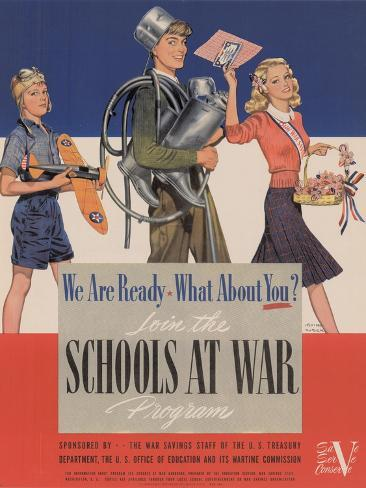 Military and War Posters: We Are Ready, What About You? U.S. Government Printing Office, 1942 Stampa artistica