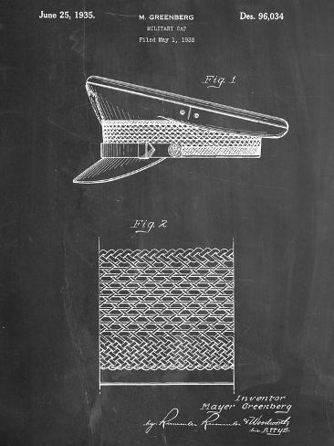 Military Cap Patent Stampa artistica