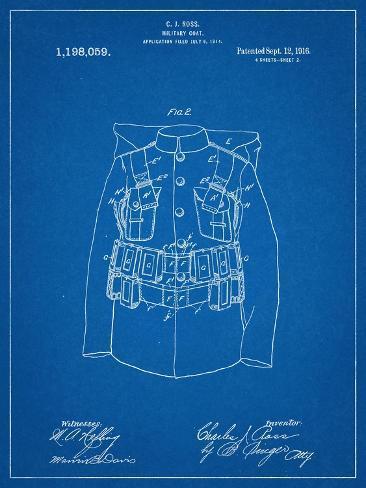 Military Coat Patent Stampa artistica