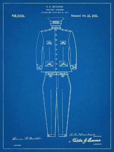 Military Uniform Patent Stampa artistica
