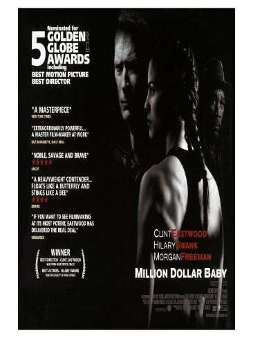 Million Dollar Baby, UK Movie Poster, 2005 Stretched Canvas Print