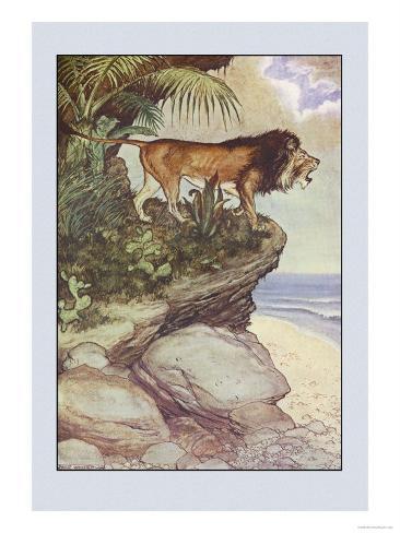 Robinson Crusoe: The Most Hideous Roar Art Print